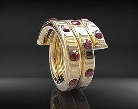 3D print model rings spiral ring