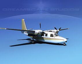 3D model Rockwell Aero Commander 560 V15