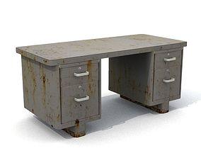 Old Rusty Office Desk 3D asset