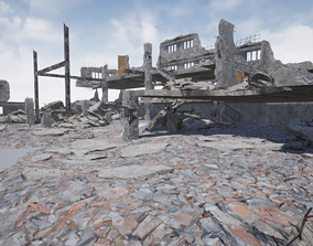 3D asset Modular City Ruin Kit