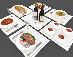 Food and Drink 3D asset