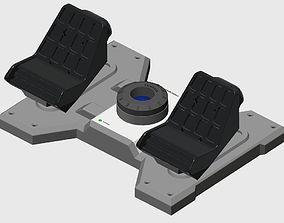 3D print model Saitek Rudder Pedals to Cessna Conversion
