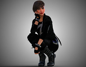 3D model Punk Gothic Emo Girl