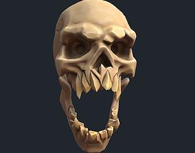 Stylized Evil Skull 3D model