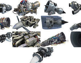 Aircraft Engines 3D Models Collection engine