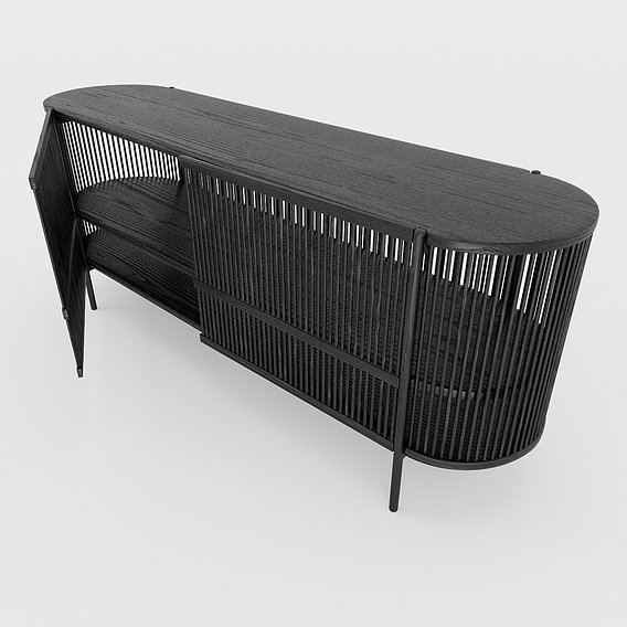 Bastone Sideboard Black with Doors
