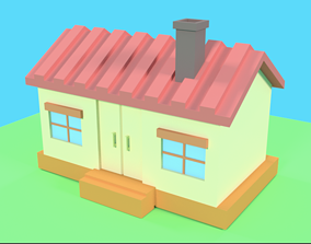 3ddesign House 3D asset low-poly