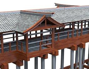 Modular Asian Bridge 3D asset