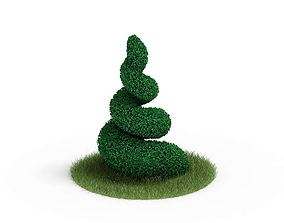 3D model Spiral Plant Topiary