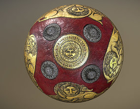 3D asset Indian dhal shield 19th century