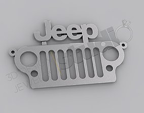 Original Jeep logo front mask pendant 3d model