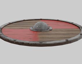 barbarian Viking Shield 3D model game-ready