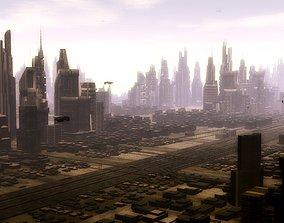 metro city 3D model