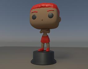 Custom Pop Female Arms Crossed Figure 3D Print
