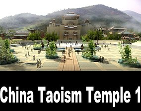 China Taoism Temple 1 3D model