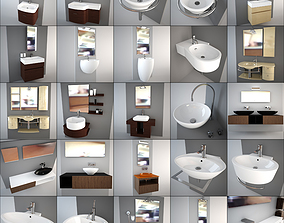 Washbasin collection - Italian design 3D
