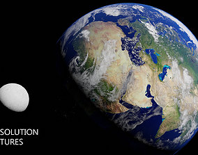 3D Realistic Earth and Moon