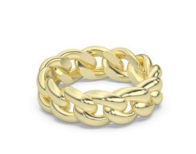 3D print model cuban chain ring usa