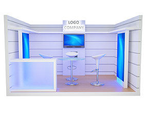 3D model Booth Exhibition Stand a405c
