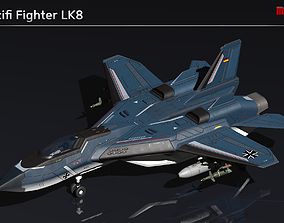 Scifi Fighter LK8 3D asset