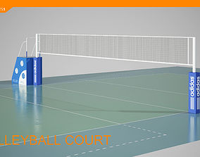 3D model 3d exercise-equipment volleyball court