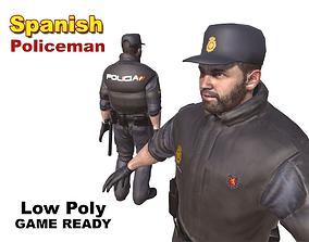Spanish Policeman 3D asset