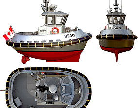 Ultra compact ASD tugboat 3D