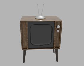 Classic wooden TV 3D
