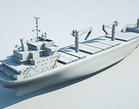 animated Cargo ship 3d model