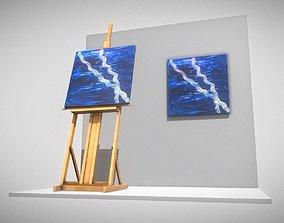 Blue Transformation no-3 Oil Painting 3D asset