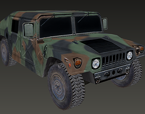 Humvee low-poly 3d model realtime