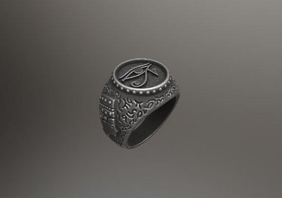 The Eye of Horus - Ring for 3d print