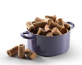 3D model Bungs in Cooking Pot