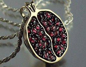 pomegranate Fruit Pendant 3dm model