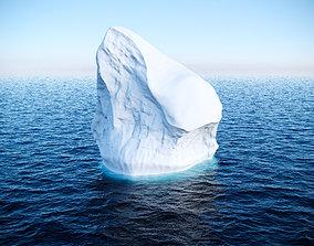 Iceberg 3D model low-poly exterior