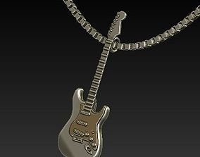 guitar pendant 3D printable model