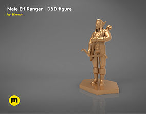 ELF RANGER CHARACTER GAME FIGURES 3D print model