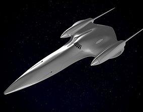 3D Naboo Queens Royal starship J-type 327