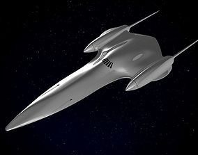 3D Naboo Queens Royal starship J-type 327