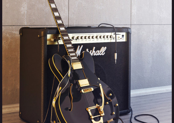 Gibson ES335 with Marshall MG100DFX
