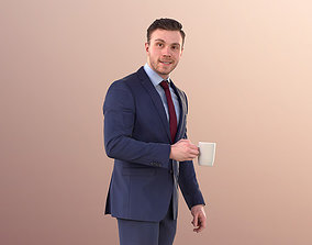 3D model Robb 10948 - Business Man Walking With Coffee