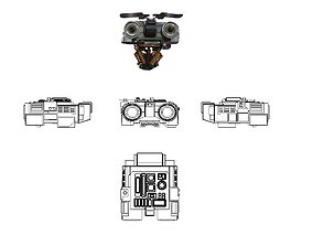 3D print model Johnny 5 - Head Eyelids Toolbox and 1