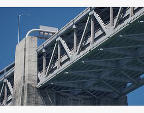 low-poly San Francisco - Oakland Bay Bridge 3D Model with