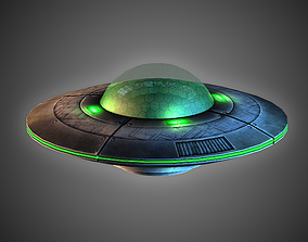 3D asset VR / AR ready FREE Flying Saucer