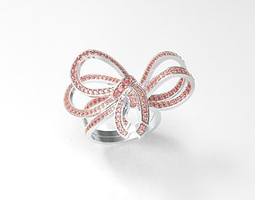 Sweet Bow Ring 3D printable model
