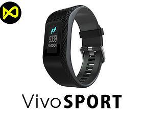 Garmin Vivosport Smartwatch Black 3D