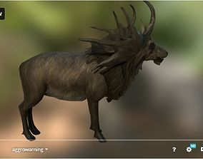 Deer - Moose - 21 Animations - Game Ready 3D asset