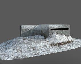 3D model VR / AR ready bunker