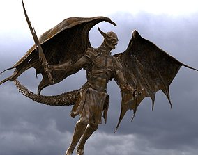 3D Demon warrior