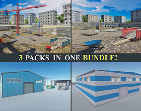 3D model Industry Bundle - Abandoned House and Modular